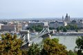 Chain Bridge, Budapest, Hungary Royalty Free Stock Photo