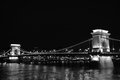 The Chain Bridge in Budapest Royalty Free Stock Photo
