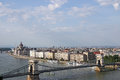 Chain bridge and hungarian parliament budapest Royalty Free Stock Image