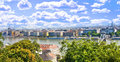 Chain bridge and hungarian parliament in budapest hungary Royalty Free Stock Images