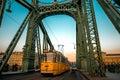 Chain Bridge and tram Royalty Free Stock Photo