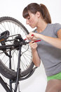 Chain change on bike Stock Image