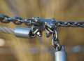 Chain connection of steel chains stainless Royalty Free Stock Photos