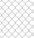 Chain fence. Seamless pattern Royalty Free Stock Photography