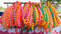 Chain garlands ,made ​​of ribbon. Stock Photography