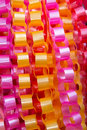 Chain garlands ,made ​​of ribbon. Stock Image