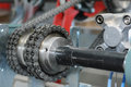 Chain gear of an automatic production line Royalty Free Stock Photography
