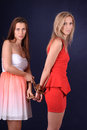 Chain girl involves the other girl s hand Royalty Free Stock Image