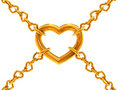 Chain of hearts Stock Image