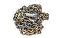 Chain and hook is rusty Royalty Free Stock Photo