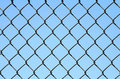 Chain Link on Blue Royalty Free Stock Photo