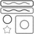Chain Link Design Element Set Royalty Free Stock Photos