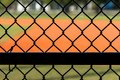 Chain Link Fence at Baseball Field Royalty Free Stock Photo
