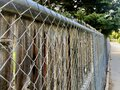 Close up of a chain link fence Royalty Free Stock Photo