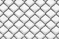 Chain link fence with snow Royalty Free Stock Photos