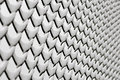 Chain link fence with snow Royalty Free Stock Images
