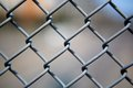 Chain link fence up close Royalty Free Stock Photography