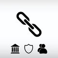 Chain link icon, vector illustration. Flat design style