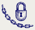 Chain and lock Royalty Free Stock Photography