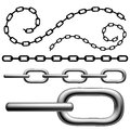 Chain set with silhouettes isolated on white Stock Photos