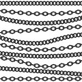 Chain vector pattern. Black silhouette on white background. Royalty Free Stock Photo