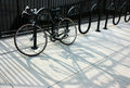 Chained bike Royalty Free Stock Photo