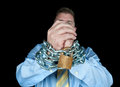 Chained businessman Royalty Free Stock Photography