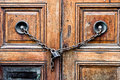 Chained door Royalty Free Stock Photo