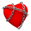 Chained heart Royalty Free Stock Photo