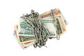 Chained money Royalty Free Stock Photos