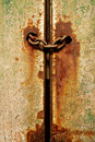 Chained Rusty Door or Gate Royalty Free Stock Photo
