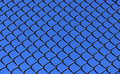Chainlink and Sky Royalty Free Stock Photo
