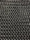 Chainmail good photo of fabric inox Stock Image