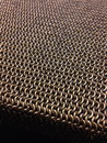 Chainmail weaves inox steel mm Stock Photo