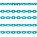 Chains isolated render on white background Stock Images