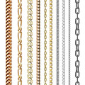 Chains link strength connection vector seamless pattern of metal linked parts and iron equipment protection strong sign