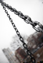 Chains metal srong metallic object Royalty Free Stock Photos