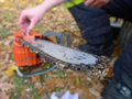 Chainsaw repairing Royalty Free Stock Images