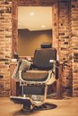 Chair in barber shop Royalty Free Stock Photo