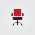 Chair icon. Illustration on white background for graphic and web design.