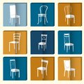 Chair Icon Set. Symbol Furniture
