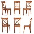 Stoličky izolované na bielom pozadí