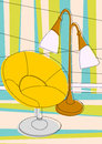 Chair and lamp Royalty Free Stock Image