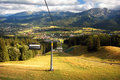 A chair-lift Royalty Free Stock Photo