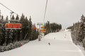 Chair lifts in Jasna Ski Resort, Slovakia