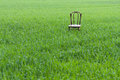 Chair in meadow single standing a Royalty Free Stock Images