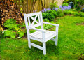 A chair in my beautiful garden Royalty Free Stock Photography