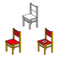 Chair and office Pushpin Stock Images