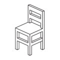 Chair outline strokes vector illustration Stock Photo