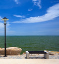 Chair in public park chonburi thailand by the sea Stock Images